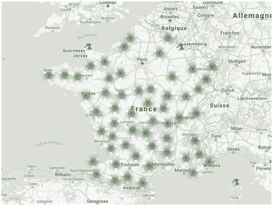 Explorez la carte des Stations Vertes !